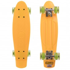 Скейтборд пластиковий Penny Led Wheels 22in з світяться колесами жовтий-салатовий, код: SK-5672-1-S52
