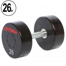 Гантель цілісна професійна Life Fitness 1х26 кг, код: SC-80081-26