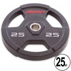 Диск поліуретановий Life Fitness з хватом і металевою втулкою 25кг (d-51мм), код: SC-80154-25-S52