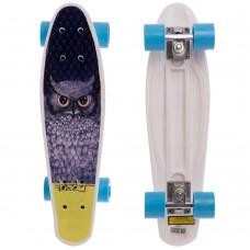 Скейтборд пластиковий Penny Сова 550х145 мм, синій, код: HB-13-1-S52