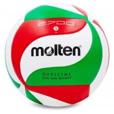 М'яч волейбольний Molten №5 PU клеєний, код: V5M2700-S52