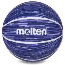 М'яч баскетбольний гумовий Molten №7, синій, код: B7F1600-BW-S52