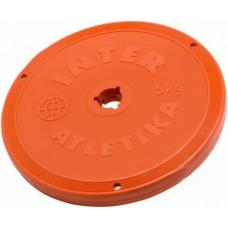Диск InterAtletika 5 кг, код: ST521.4C