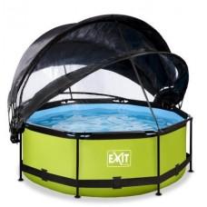 Басейн з куполом Exit і тентом лайм 244 х 76 см, код: 30.36.08.40