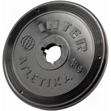 Диск InterAtletika черный 1 кг, код: ST520.2B