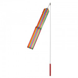 Стрічка гімнастична FitGo 6 м, веселка, код: TA7134-6-CL-WS