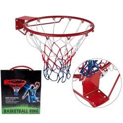 Кольцо баскетбольное PlayGame с сеткой d=45 cм, код: 88335-WS