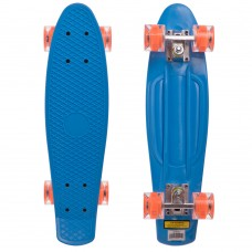 Скейтборд пластиковий Penny Led Wheels 22in з світяться колесами синій-помаранчевий, код: SK-5672-2-S52