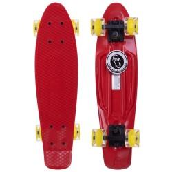 Скейтборд пластиковий Penny Led Wheels Fish 22in з світяться колесами, код: SK-405-15-S52
