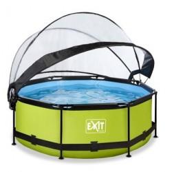 Басейн круглий з куполом Exit лайм 244 х 76 см, код: 30.32.08.40