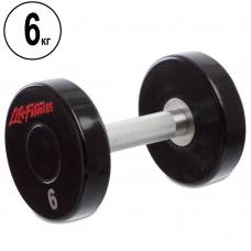 Гантель цілісна професійна Life Fitness 1х6 кг, код: SC-80081-6