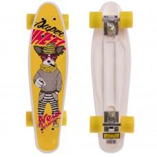 Скейтборд пластиковий Penny Собака 550х145 мм, жовтий, код: HB-13-4-S52