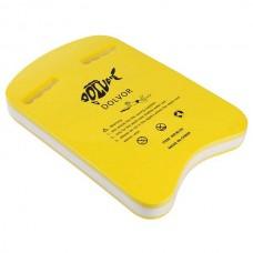 Дошка для плавання Dolvor жовтий/білий 425х280х43 мм, код: DLV-3U-3