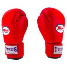 Боксерські рукавички Twins 6oz, червоний, код: TW-6R-1-WS