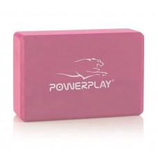 Блок для йоги PowerPlay Yoga Brick рожевий, код: PP_4006_Pink_Yoga_Brick