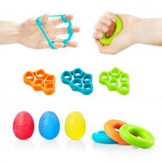 Набір еспандерів для пальців та зап'ястя 4Fizjo 9 шт, код: 4FJ0133