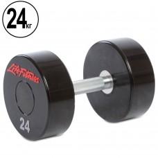 Гантель цілісна професійна Life Fitness 1х24 кг, код: SC-80081-24