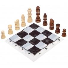Шахові фігури дерев'яні з полотном з ПВХ ChessTour, код: 300P