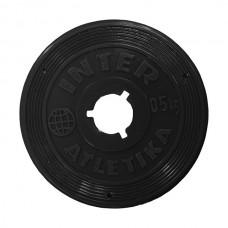 Диск InterAtletika черный 0,5 кг, код: ST520.1B