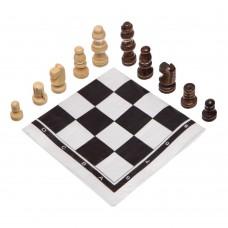 Шахові фігури дерев'яні з полотном з ПВХ ChessTour, код: 18P