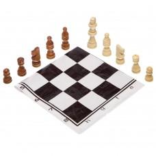 Шахові фігури дерев'яні з полотном з ПВХ ChessTour, код: 205P