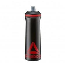 Пляшка для води Reebok чорний/червоний 0,75 л, код: RABT-12005BK