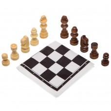 Шахові фігури дерев'яні з полотном з ПВХ ChessTour, код: 202P