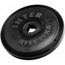 Диск InterAtletika черный 2,5 кг, код: ST520.3B