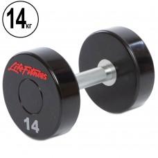Гантель цілісна професійна Life Fitness 1х14 кг, код: SC-80081-14