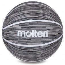 М'яч баскетбольний гумовий Molten №7, сірий, код: B7F1600-KW-S52