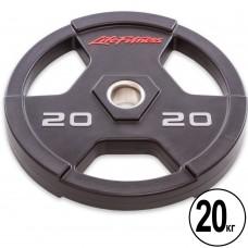 Диск поліуретановий Life Fitness з хватом і металевою втулкою 20кг (d-51мм), код: SC-80154-20-S52