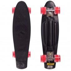 Скейтборд пластиковий Penny Led Wheels 22in з світяться колесами чорний-червоний, код: SK-5672-5-S52