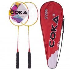 Набір для бадмінтону Coca 2 ракетки в чохлі, код: 558-S52