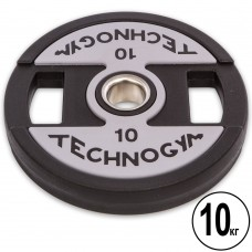 Диски поліуретанові Technogym з хватом і металевою втулкою 10кг (d-51мм), код: TG-1837-10-S52