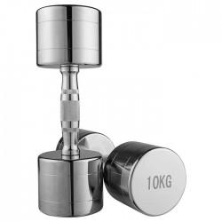 Гантель хромована FitGo 1х10 кг, код: 80034B-10