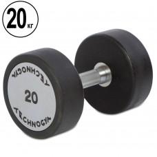 Гантель цілісна професійна TechnoGym 1х20 кг, код: TG-1834-20
