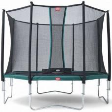 Батут із захисною сіткою Berg Favorit Green + Safety Net Comfort 4300 мм, код: 35.14.02.02