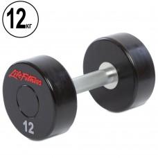 Гантель цілісна професійна Life Fitness 1х12 кг, код: SC-80081-12