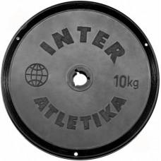 Диск InterAtletika черный 10 кг, код: ST520.5B